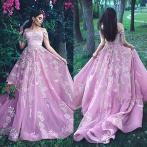fuera de los hombros vestidos de noche formales de la noche árabe 2018 sirena vestido de fiesta vestidos de quinceañera bes formelles soirée 2018 Vestidos 15 años