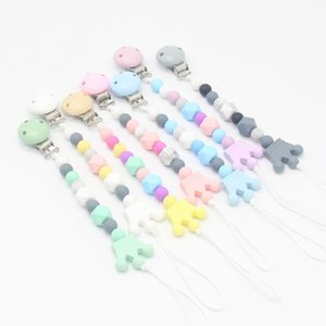 Silicon Bead Pacifier Chain Clips and Teethers Baby Feeding Accessories Hot Sale Infant Safe Pacifier Holders Soother