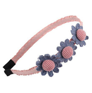 Carino fascia dei capelli delle ragazze Chic Flower Floral Bow archetto Ribbon Covered Style Style Hair Hoop Handmade Kids Hair Accessories GB165