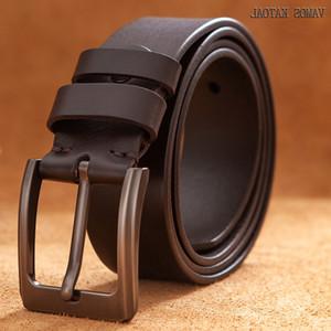 Vamos Katoal 100% d'origine Ceintures en cuir pour homme de haute qualité Jeans Casual Ceinture Cowskin Ceinture d'affaires Cowboy Baudrier