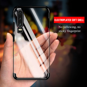 Huawei P30 Lite Case Cover Transparent Soft Silicone Silm Plating TPU Back Cover For HuaweiP30 P30Lite P30Pro Cases Phone Coque