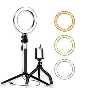 Caméra Dimmable LED Light Ring studio photo visiophone lumière lampe Annulaire trépieds selfie Bâton Anneau Fill Light pour Canon