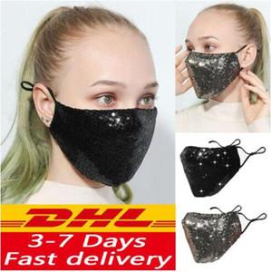 Face Mask блестка роты Обложка маски Маска Мода Bling Bling Защитной РМ2,5 пыл моющихся Многократные лица Упругий ушной Рот маска YP579