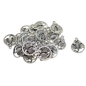 30Pcs Tibetan Silver Scorpions Charms Pendant DIY Jewelry for Necklace Bracelet Making Accessaries, 1.02X0.75inch
