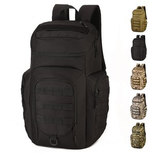 40L With Shoes Warehouse Tactical Bag Backpack Male Outdoor Climbing Hiking Waterproof Camouflage Laptop Shoulder Bags Schoolbag