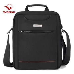 Vertical Pure Uomini Business Messenger Bag spalla casuale Zip Borsa per computer di alta capacità