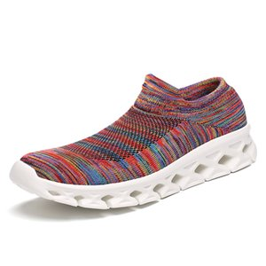 Weave Men Women Running Shoes Lovers Socks Sneakers Man Colorful Sports Shoes Light Couple Athletic Shoes Jogging Male Trainers