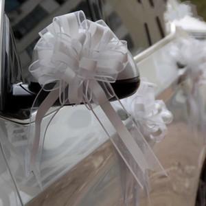 10pcs Blanc / Argent / Rose Extra Large Fil De Neige Tirer Le Ruban Arc pour Le Cadeau D'emballage Partie De Mariage De Voiture poignée de porte Décoration Décoration