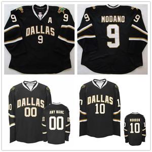 Personalizzato annata 2008-09 Mike Modano Brendan Hockey Morrow Stella 91 Tyler Seguin 14 Jamie Benn pullover nero cucito Qualsiasi numero Il tuo nome
