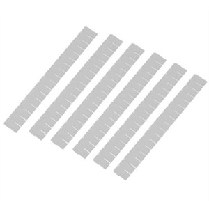 6pcs Plastic Drawer Closet Grid Divider Tidy Organizer Container Home Storage White