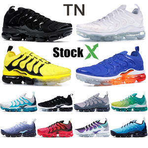 TN plus Hommes Chaussures de course États-Unis Triple Noir Blanc Royal Game Obsidian photo Bleu Bumblebee mer Rose Citron Formateurs Lime sport Chaussures de sport