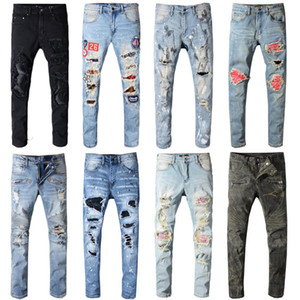 Características Top Quality Vintage Mens Calças Jeans Streetwear Motorcycle Estilo Locomotive Zipper Biker Pants clássico magros por Homens