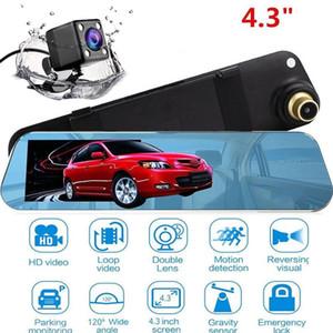 Vehemo double objectif Rearview Mirror Driving Recorder caméra Night Vision Car Video Recorder Caméra Dash Portable Ultrathin voiture DVR
