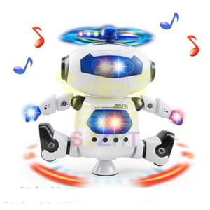 Control remoto inteligente robot RC música LED de la luz eléctrica baile del robot ENLIGHTMENT educativos juguetes RC eléctrico turbo de 360 grados revolvingc