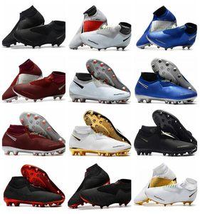 2020 Mens Soccer Cleats Phantom VSN Elite DF AG sock Outdoor Soccer Shoes x EA Sports Phantom Vision Football Boots Scarpe calcio Tamanho 39-45