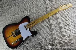 New Sunburst Custom Shop TUFF DOG Signature Electric Guitar Quintana Tiger maple Golden Hardware