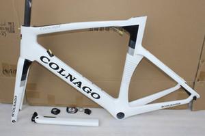 Colnago kavramı karbon yol çerçeve tam karbon bisiklet çerçevesi parlak / mat cila karbon bisiklet çerçeve daha 12 renk