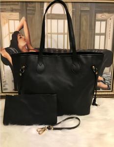 Schwarz geprägte Designer-Handtaschen Geldbeutel Totebeutel-PU-Leder Modedesigner sackt Frauen berühmter Marke Umhängetasche Geldbeutel hoch qualit