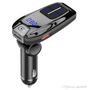 100 unids HOT BC59 Coche inalámbrico Llamadas sin manos Llamadas Bluetooth FM Transmisor Adaptador de radio MP3 Player Receptor USB Cargando DHL Envío gratis