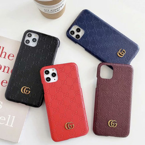 Retro Print Letter Phone Case for iPhone 11 PRO X XS MAX XR 7 8 PU Leather Back Cover Fashion Show Designer For Galaxy S20 S10 Note 10 9