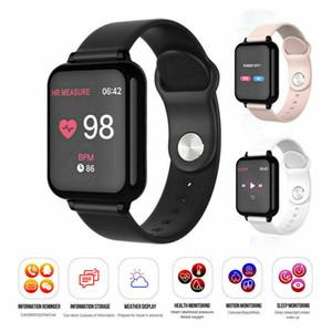 B57 Sport Smart-Uhren Android-Uhr-Frauen Männer wasserdichte intelligente Uhr mit Puls-Blutdruck-Smartwatch für alle Smart Phones