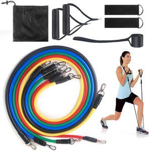 Direnç Gruplar Spor Ekipmanları Çekme Halat 10-30LB Tüm Vücut Egzersiz Gruplar Yoga Eğitimi Egzersiz bantları