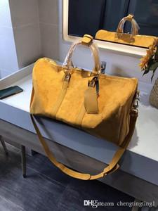 Ms Maschio ad alta capacità a breve distanza di spalla di corsa Bag Trend Lettera singolo Handbagg sacchetti di Duffel Pacchetti di moda femminili uomini di alta qualità