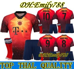 adulte KIT 18 19 EA Sports numériques FOU Bayern Munich SOCCER MAILLOTS JAMES 2019 MULLER LEWANDOWSKI chemises de football spécial hommes remarquables