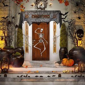 Tovaglia Halloween Tabella decorazione del merletto Ragnatela tovaglia Camino Sciarpa Nera Spider web per la decorazione di Halloween