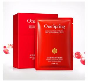 10 pcs OneSpring Red Pomegranate Máscara Facial tony moly Máscara de Clareamento Hidratante Máscaras de Beleza para o Rosto Máscara Facial Máscara de Cuidados Da Pele