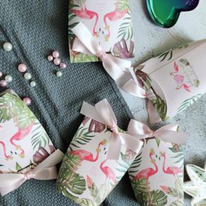 Nueva ducha del diseño cajas de regalo Azúcar Partido caso de Baby Box cumpleaños caramelo Suministros favores de la boda de caramelo bolsa de papel con la cinta