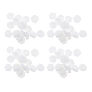 Set Of 320 White Hexagon Disposable Nail Art Polish Transfer Sponge Template