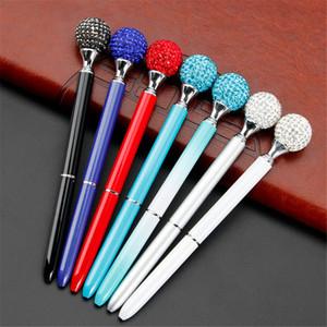 تبريد قلم حبر جاف فاخر Penspinning الجدة الماس الكرة نقطة القلم سبين مع هدايا غير مرئية الأزرق الحبر الأسود المعادن Papelaria