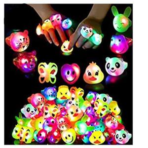 LED suave cola expressão anel de flash luminoso crianças anel de luz dedo desenho animado de flash anel Presentes de aniversário do partido Brinquedos LED