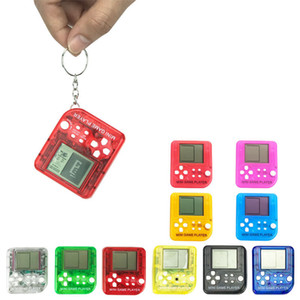 Süper Mini Tetris oyunu oyuncu Avuç İçi Oyun Konsolları Taşınabilir Retro Mini Oyun oyuncusu anahtarlık kolye Çocuk Oyuncakları en iyi hediye
