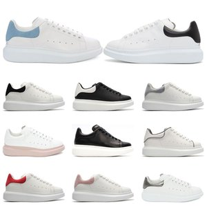 New Designer shoes 3M Reflective white leather casual shoes women men black gold red fashion comfortable flat sneakers Platform size 36-44