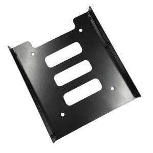 Профессиональный 2,5 дюйма до 3,5 дюйма SSD HDD адаптер Металл стойку Жесткий диск SSD Монтажный кронштейн держатель для PC черный