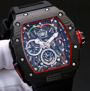 Роскошный черный NTPT углеродного волокна сплит SECS 50-03 автоматический свет спортивные мужские часы день дата черный резиновый ремешок швейцарский бренд мужчины наручные часы