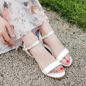 2020 Big Size 11 12 13 14 15 high heels sandals women shoes woman summer ladies Simple Roman sandals with one word band