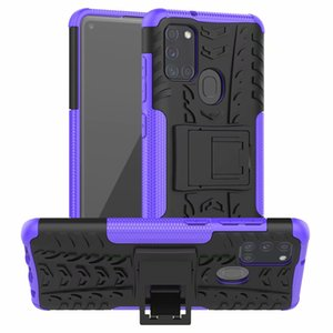 For Samsung Galaxy A31S Case Colorful Stand Rugged Combo Hybrid Armor Bracket Impact Holster Cover For Samsung Galaxy A31S