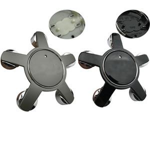 Las cubiertas de la rueda de automóvil de 135 mm de 135 mm Capas del centro de la tapa del centro de plata negro cubren 4F0601165 4F0601165N para un estilo de automóvil A4L A6L
