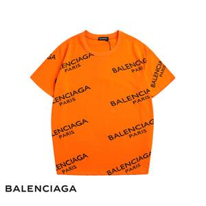 2020 Mens Designer de luxo Camiseta Homens Mulheres Marca roupa de alta qualidade Carta Imprimir Moda Black Red White T Shirt Hip Hop Tees tamanho S-2XL