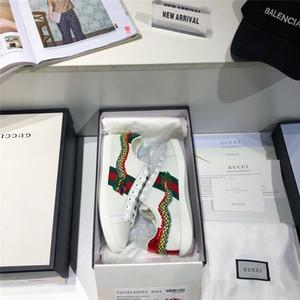 Ace 2020 neue Luxus-Modedesigner Turnschuhe Vintage Qualitätsfrauen Mensschuhe klassische Drachen Körper Stickapplikationen size35-44