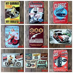 금속 주석 징후 자동차 수리 스토어 포스터 빈티지 레이디 모터 플라크 장식 철 플레이트 바 클럽 벽 장식 (39)는 YW3191 디자인