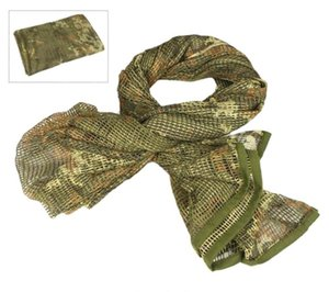 Camouflage Tactical Mesh Breathbale Scarf Sniper Face Veil Scarves For Camo Hunting Cycling Neckerchief