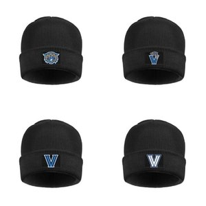 Villanova Wildcats Basketball logo Men's Womens Stretchy Wool Cap Thick Unisex White Logo USA flag Black Camouflage