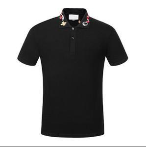 POLO shirt Frühling Luxus Italien-T-Shirt Designer Polo Shirts High Street Stickerei Garter Snakes Little Bee Printing Kleidung Herren xshfbcl Marke