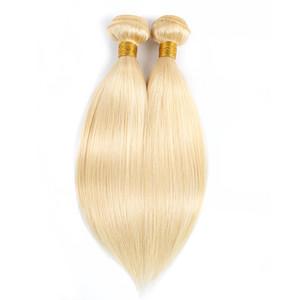 # 613 Светлые прямые волосы переплетения пучков бразильский перуанский индийский малайзийский реми человеческих волос 1 или 2 пучки 10-28 дюймов оптом