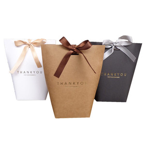حقيبة هدية شكرا لك ميري هدية التفاف أكياس الورق للهدايا الزفاف تفضل مربع حزمة عيد ميلاد حفل أكياس الإهمال
