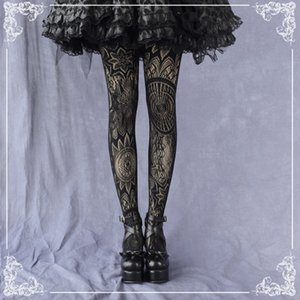 ccessoires Bas, Collants Chaussettes Punk foncé filles Vintage Style gothique motif bas de soie Lolita sexy creux Femmes en Noir ...
